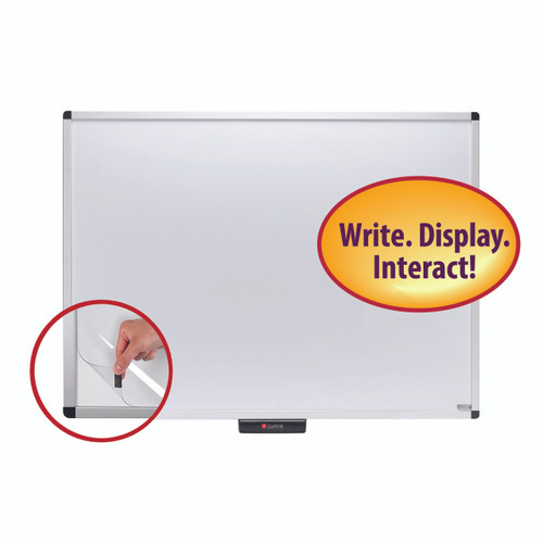 """Justick 48"""" X 36"""" Premium Aluminum Frame Whiteboard with Clear Overlay White - 48"""" (4 ft) Width x 36"""