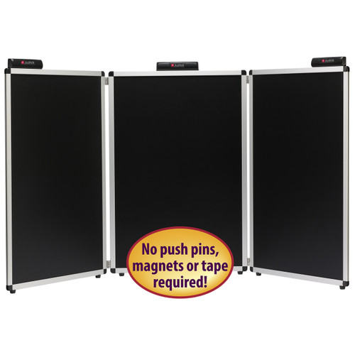 Justick 3-Panel Table Top Expo Display 02590