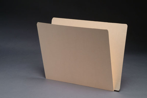 Jeter Compatible Super Extended Single Ply End Tab Folders, 14 Pt. Manila, Letter Size, Fastener in Position 3 -  50/Box