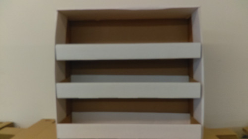 "Label Box Holder - 17-3/8"" H x 18-9/16"" W - Comes with 3 shelves to organize label boxes"