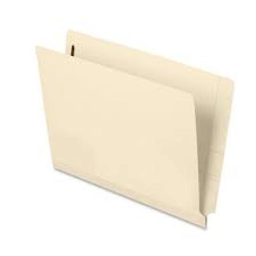"Amerifile End Tab Open Shelf File Folder - 14 Pt - 2 Ply - Position 1 - 3/4"" Accordion Expansion  - Manila - Letter - Box of 50"