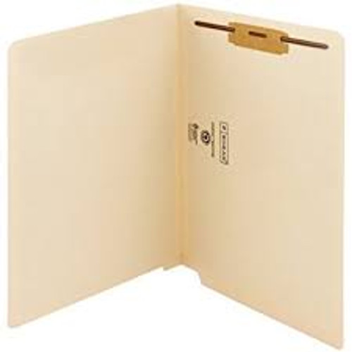 Amerifile End Tab Extended End-Tab File Folders - 14 Pt - 2 Ply - Position 1 - Manila - Letter - Box of 50