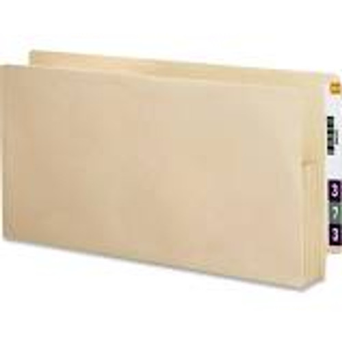 """Amerifile End Tab """"Drop Front"""" File Folders - 11 Pt - 2 Ply - 1/2 Cut - Assorted - manila - Letter - Box of 100"""