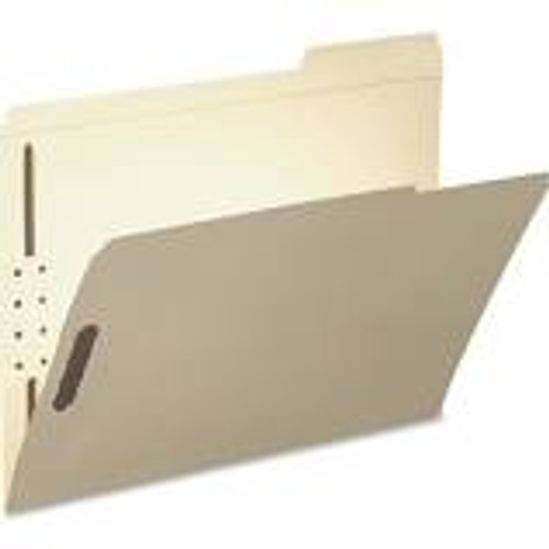 "Amerifile End Tab Classification File Folders - 14 Pt - 2 Ply - Position 1&3 - 2"" Expansion - Manila - 1 Divider - Letter - Box of 25"