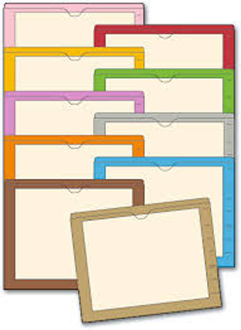 "Amerifile End Tab Manila Folders with Color Borders - 11 Pt - 2 Ply - 3/4"" Accordion Expansion - Colored - Letter - Box of 100"