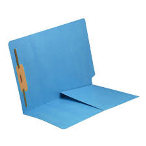 "Amerifile End Tab Color Folders with folder - 11 Pt - 2 Ply - Position 1 - 1/2"" Accordion Expansion - Colored - folder - Letter - Box of 50"