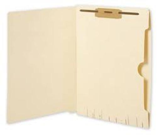 Amerifile End Tab Folders with Full Pocket - 11 Pt - 2 Ply - Position 1&3 - Pocket - Letter - Box of 50
