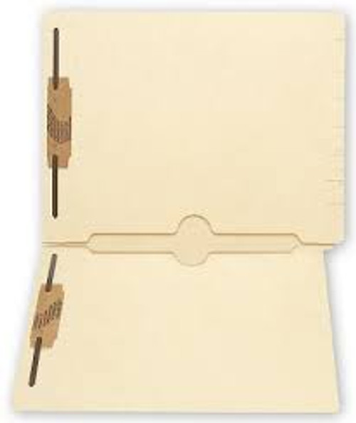 Amerifile End Tab File Folders with 2 Full Pockets - 11 Pt - 2 Ply - 2 Pockets - Letter - Box of 50