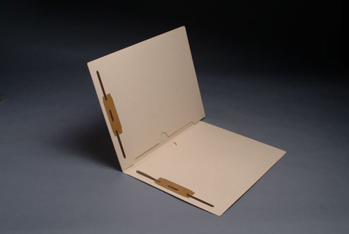 End Tab Pocket Folders - 11 Pt. Manila - Full Pocket Front and Back - Fasteners in Positions 1 & 3 - Letter Size - 50/Box