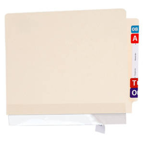 """Amerifile  Reinforcement Strips For File Folder Spines - 11"""" W x  2"""" H - Clear - Box of 100"""