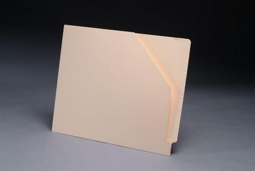 Amerifile End Tab Slant File Pocket Folders - 11 Pt - 2 Ply - Pocket - Letter - Box of 100