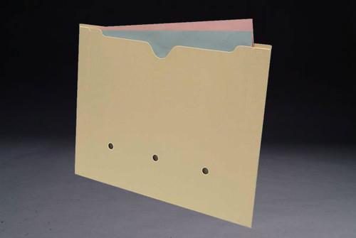 Amerifile End Tab File Pocket Folder - 11 Pt Manila - 2 Ply Edges - LetterSize - Box of 50