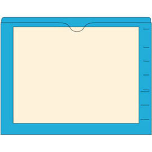 Amerifile End Tab Manila Pocket Folders with Colored Borders - Closed on 3 sides, top opening - 11 Pt Stock - 2 Ply Tab - Available in 10 Colors - Box of 100