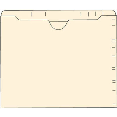 Amerifile Top Tab File Pocket Folders - 11 Pt Manila - 2 Ply Tab - Flat, No Expansion - Box of 100 - Item F3244