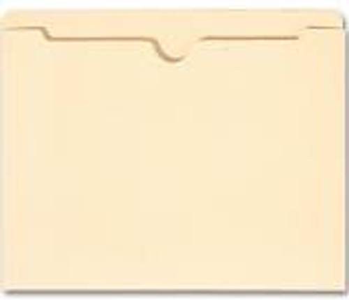 """Amerifile Top Tab File Jacket with 2"""" Expansion (ships flat) - 11 Pt. Manila  - Single Ply Tab - Letter Size - Closed on 3 sides - Notched at top - 200/Carton"""
