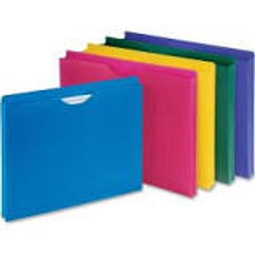 Amerifile Top Tab Solid Color File Pocket Folders - 11 Pt - 2 Ply - Pocket - Letter - Box of 50