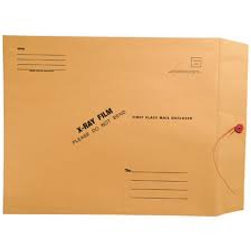 "Amerifile  X-Ray Film Mailing Envelopes - 28# Brown Kraft - 11"" x 13"" - String & Button Closure - Box of 50"