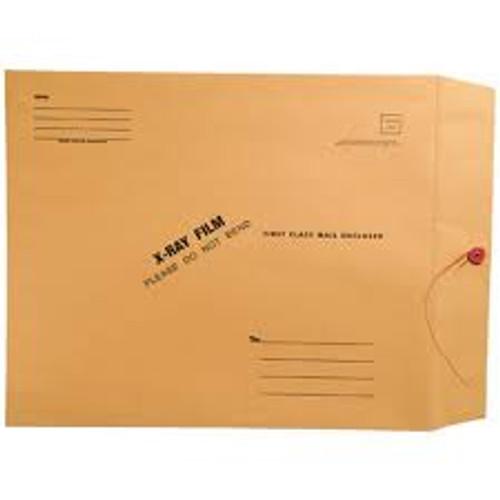 "Amerifile  X-Ray Film Mailing Envelopes - 28# Brown Kraft - 11"" x 13"" - String & Button Closure - Box of 50"