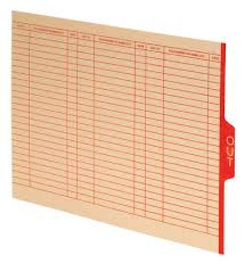 Amerifile End Tab Manila Outguides - 18 Pt - Letter - Box of 100