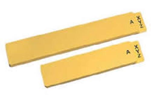 Amerifile  Vinyl Alphabet Guide - 24 Pt - Yellow - Letter - Box of 25