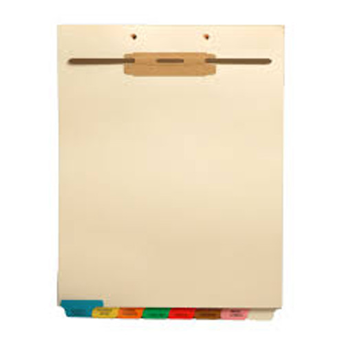 """Hospital"" - Bottom Tab File Back Chart Divider - Brown Tab in Position 5 - Box of 50"