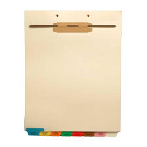 """Miscellaneous"" -Bottom Tab File Back Chart Divider - Gray Tab Position 8 - Divider - Box of 50"