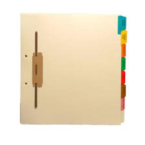 """X-Ray- EKG""""  Amerifile Side Tab Individual Fileback Dividers - Green Tab Position 4 - Box of 50"""