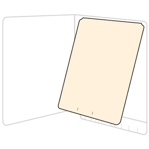 Amerifile Top Hinge Self-Adhesive Dividers - 11 Pt. Manila  - Letter Size - Box of 100