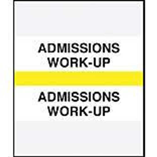 Amerifile (Tabbies Compatible) Chart Divider Tabs - Divider - Box of 100 - Yellow - Admission Work-Up