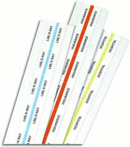 Amerifile  Custom Self-Adhesive Chart Divider Tabs - White - Divider - Box of 160