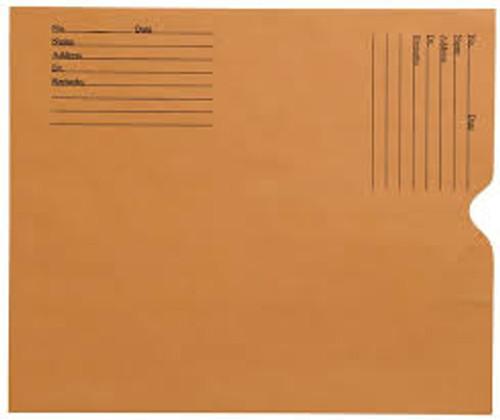 "Amerifile  X-Ray Filing Envelopes Open End Negative Preservers - Kraft  Brown - 8-1/2"" x 10-1/2"" - Carton of 500 - FX1938"