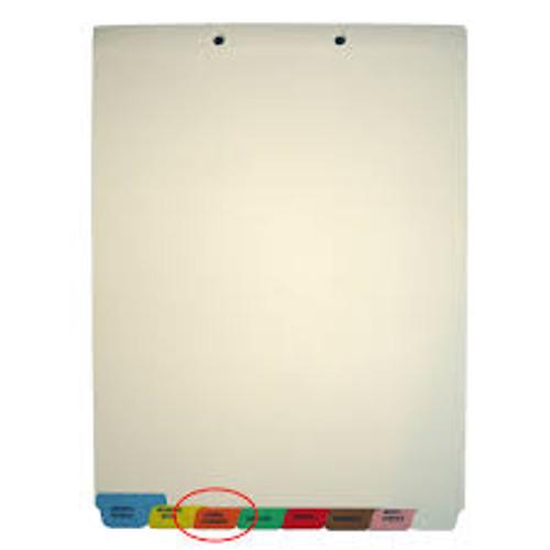 """Miscellaneous"" Amerifile Bottom Tab Individual Chart Dividers -Gray Tab Position 8 - Divider - Box of 50 - I731"
