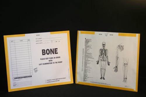 AmeriFile X-Ray Category Insert Envelopes - Open on End - Bone - Yellow - FXE61004 - Box of 250