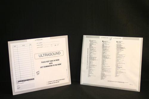 AmeriFile X-Ray Category Insert Envelopes - Open on End - Ultrasound - Gray - FXE61017 - Box of 250