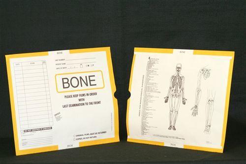 AmeriFile X-Ray Category Insert Envelopes - Open on Top - Bone - Yellow - FX61204 - Box of 250
