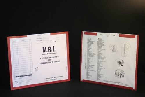 AmeriFile X-Ray Category Insert Envelopes - Open on Top - M.R.I. - Rust - FXT63334 - Box of 250