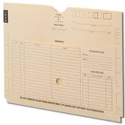 "AmeriFile Heavyweight X-Ray Filing Jackets - Printed - 3/4"" Accordion Expansion - Box of 100"