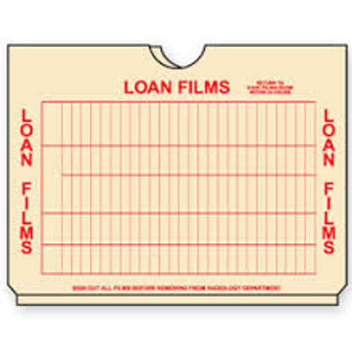 "AmeriFile X-Ray Loan Films Jacket - 3/4"" Accordion Expansion - Box of 100"