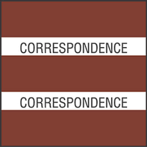 "AmeriFile Chart Divider Tabs - 1 1/2"" X 1 1/2"" - Box of 102 - Brown - Correspondence"