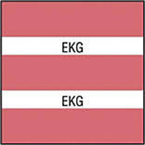 "AmeriFile Chart Divider Tabs - 1 1/2"" X 1 1/2"" - Box of 102 - Pink - EKG"