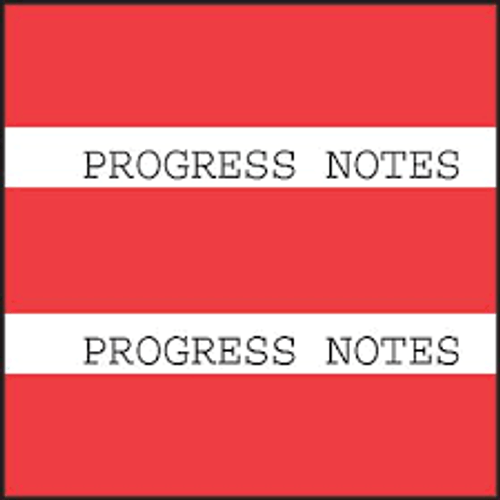 "AmeriFile Chart Divider Tabs - 1 1/2"" X 1 1/2"" - Box of 102 - Red - Progress Notes"