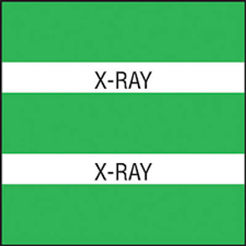 "AmeriFile Chart Divider Tabs - 1 1/2"" X 1 1/2"" - Box of 102 - Green - X-Ray"