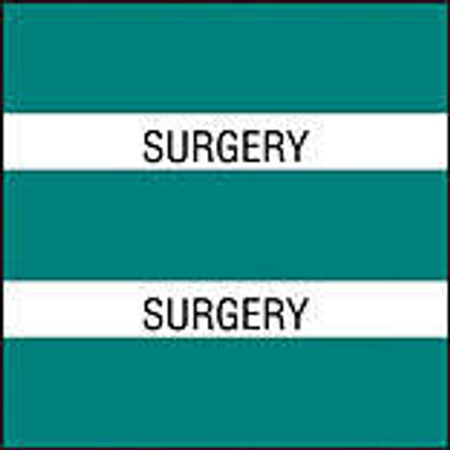 "AmeriFile Chart Divider Tabs - 1 1/2"" X 1 1/2"" - Box of 102 - Turquise - Surgery"