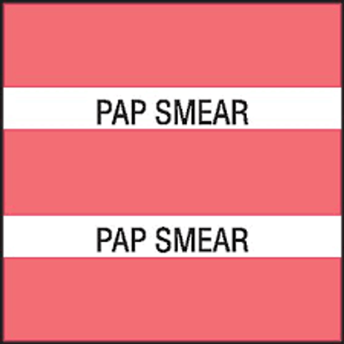 """AmeriFile Chart Divider Tabs - 1 1/2"""" X 1 1/2"""" - Box of 102 - Pink - Pap Smear"""