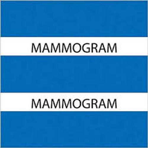 "AmeriFile Chart Divider Tabs - 1 1/2"" X 1 1/2"" - Box of 102 - Navy Blue - Mammogram"