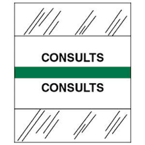 Amerifile (Tabbies Compatible) Chart Divider Tabs - Divider - Box of 100 - Green - Consults