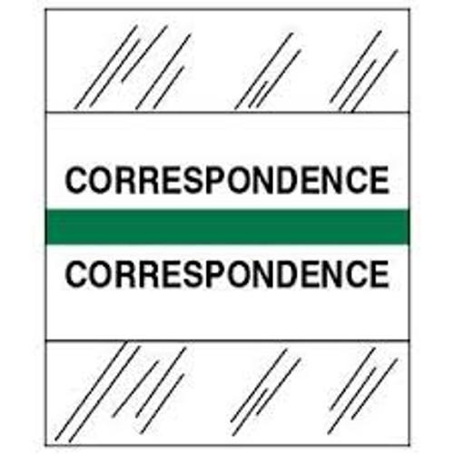 Amerifile (Tabbies Compatible) Chart Divider Tabs - Divider - Box of 100 - Green - Correspondence