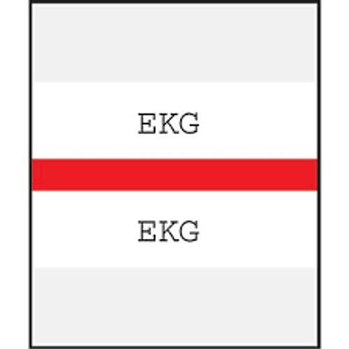 Amerifile (Tabbies Compatible) Chart Divider Tabs - Divider - Box of 100 - Red - EKG