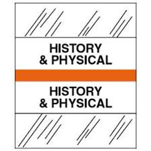Amerifile (Tabbies Compatible) Chart Divider Tabs - Divider - Box of 100 - Orange - History & Physical