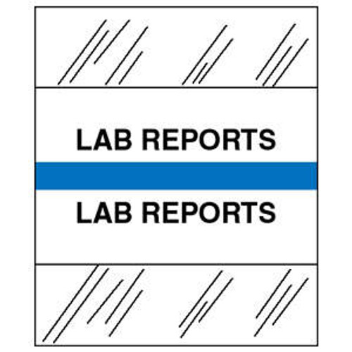 "Create Your Own Chart Divider Tabs - ""Lab Reports"" - Light Blue - 1/2"" H x 1-1/4"" W - 100/Pack"